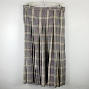 Pendleton Woman Skirt Sz 10 Gored Black Beige
